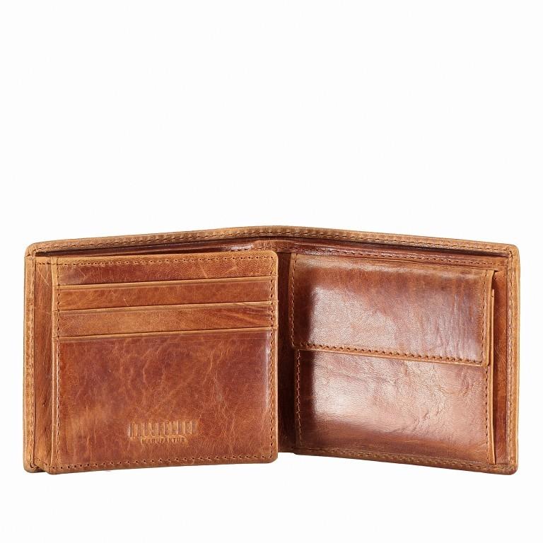 Geldbörse Amra Folkland Cognac, Farbe: cognac, Marke: Hausfelder, EAN: 4251672750014, Abmessungen in cm: 11.0x9.5x2.0, Bild 4 von 5
