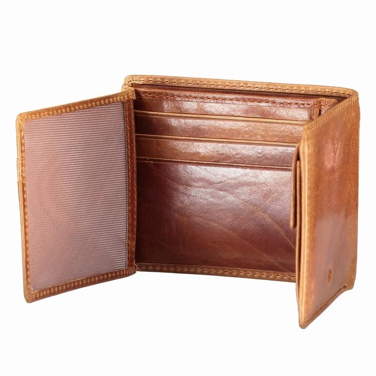 Geldbörse Amra Folkland Cognac, Farbe: cognac, Marke: Hausfelder, EAN: 4251672750014, Abmessungen in cm: 11.0x9.5x2.0, Bild 5 von 5