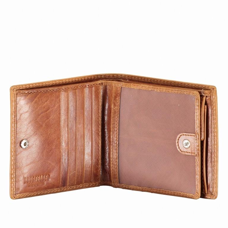 Geldbörse Amra Folkland Cognac, Farbe: cognac, Marke: Hausfelder, EAN: 4251672750021, Abmessungen in cm: 12.0x10.0x2.0, Bild 4 von 5