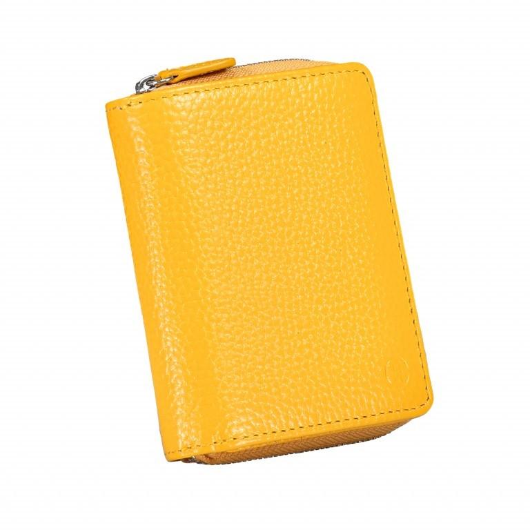 Geldbörse Amra Bradley mit RFID-Schutz Gelb, Farbe: gelb, Marke: Hausfelder, EAN: 4251672748318, Abmessungen in cm: 9.0x11.0x3.0, Bild 2 von 5