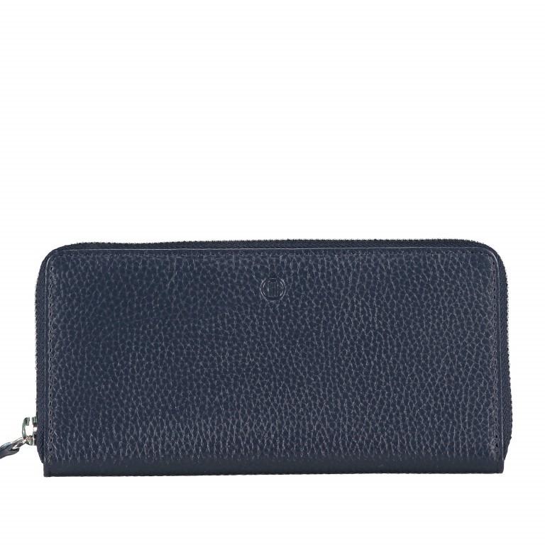 Geldbörse Amra Bradley mit RFID-Funktion Dunkelblau, Farbe: blau/petrol, Marke: Hausfelder, EAN: 4251672748424, Abmessungen in cm: 19.0x9.5x2.0, Bild 1 von 5