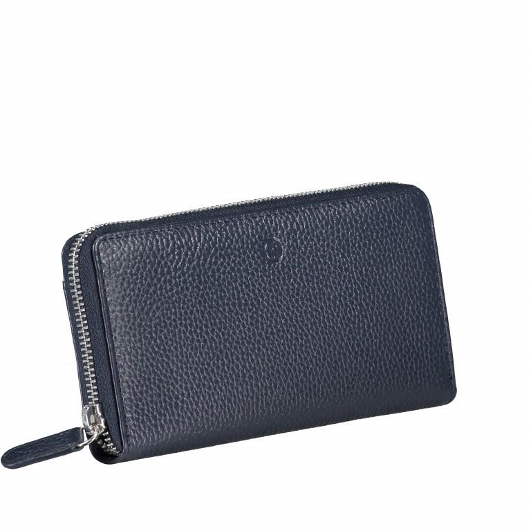 Geldbörse Amra Bradley mit RFID-Funktion Dunkelblau, Farbe: blau/petrol, Marke: Hausfelder, EAN: 4251672748424, Abmessungen in cm: 19.0x9.5x2.0, Bild 2 von 5
