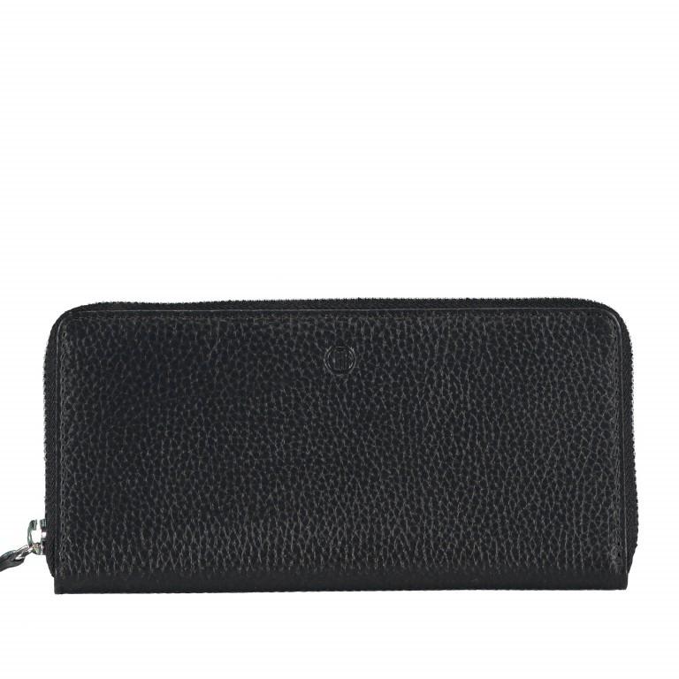 Geldbörse Amra Bradley mit RFID-Funktion Schwarz, Farbe: schwarz, Marke: Hausfelder, EAN: 4251672748431, Abmessungen in cm: 19.0x9.5x2.0, Bild 1 von 5