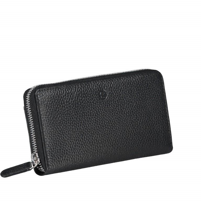 Geldbörse Amra Bradley mit RFID-Funktion Schwarz, Farbe: schwarz, Marke: Hausfelder, EAN: 4251672748431, Abmessungen in cm: 19.0x9.5x2.0, Bild 2 von 5