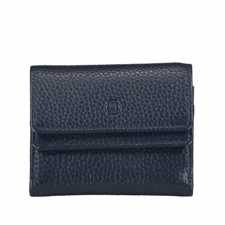 Geldbörse Amra Bradley mit RFID-Schutz Dunkelblau, Farbe: blau/petrol, Marke: Hausfelder, EAN: 4251672748486, Abmessungen in cm: 10.5x8.5x3.0, Bild 1 von 5