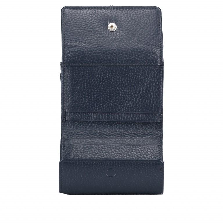 Geldbörse Amra Bradley mit RFID-Schutz Dunkelblau, Farbe: blau/petrol, Marke: Hausfelder, EAN: 4251672748486, Abmessungen in cm: 10.5x8.5x3.0, Bild 5 von 5