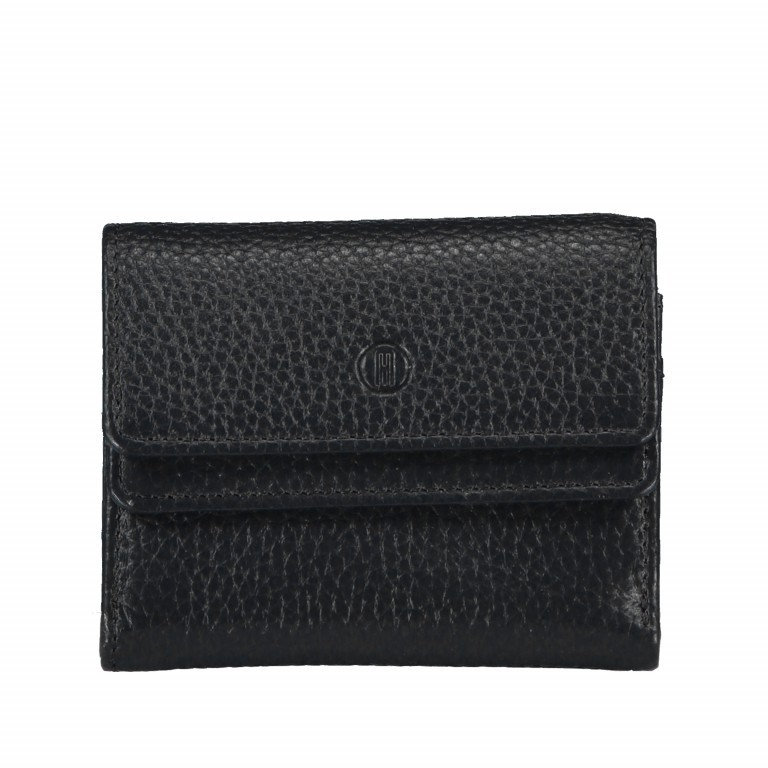 Geldbörse Amra Bradley mit RFID-Schutz Schwarz, Farbe: schwarz, Marke: Hausfelder, EAN: 4251672748493, Abmessungen in cm: 10.5x8.5x3.0, Bild 1 von 5