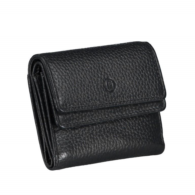 Geldbörse Amra Bradley mit RFID-Schutz Schwarz, Farbe: schwarz, Marke: Hausfelder, EAN: 4251672748493, Abmessungen in cm: 10.5x8.5x3.0, Bild 2 von 5
