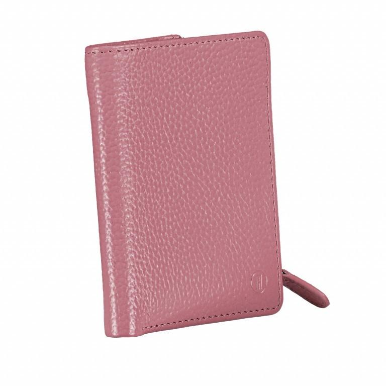 Geldbörse Amra Bradley mit RFID-Funktion Rose, Farbe: rosa/pink, Marke: Hausfelder, EAN: 4251672748608, Abmessungen in cm: 9.5x12.5x1.5, Bild 2 von 5