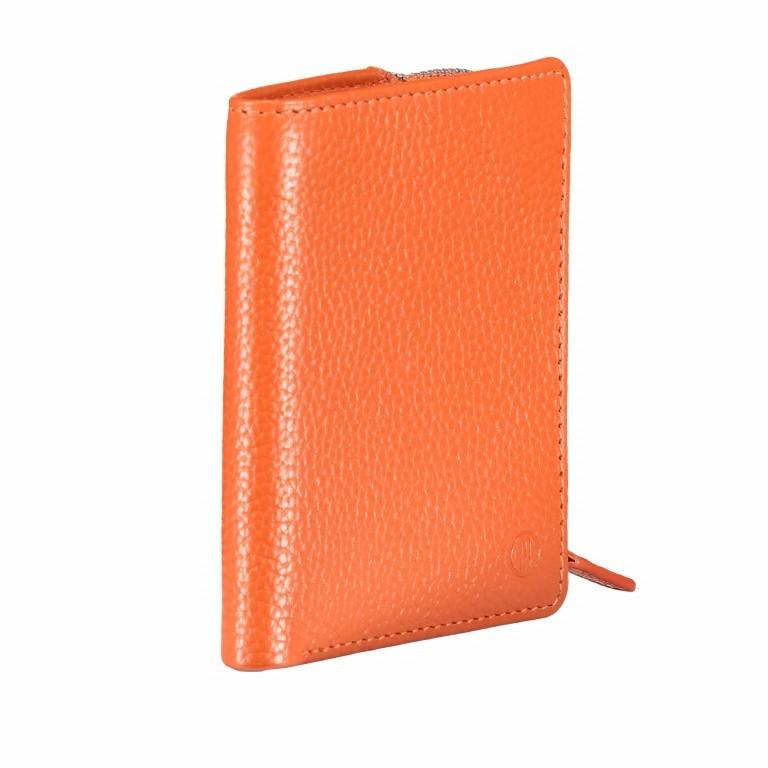 Geldbörse Amra Bradley mit RFID-Funktion Orange, Farbe: orange, Marke: Hausfelder, EAN: 4251672748639, Abmessungen in cm: 9.5x12.5x1.5, Bild 2 von 5