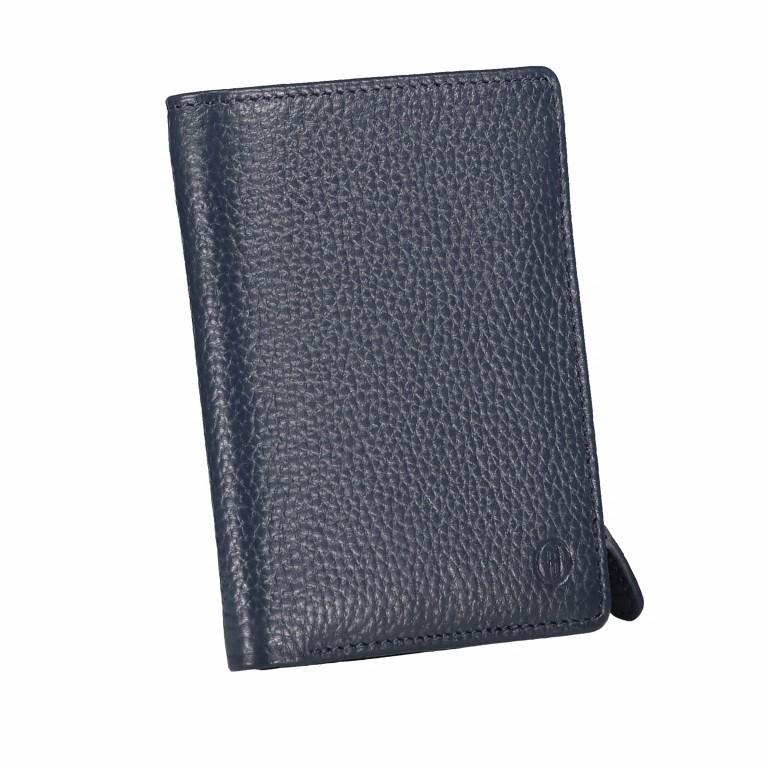 Geldbörse Amra Bradley mit RFID-Funktion Dunkelblau, Farbe: blau/petrol, Marke: Hausfelder, EAN: 4251672748660, Abmessungen in cm: 9.5x12.5x1.5, Bild 2 von 5