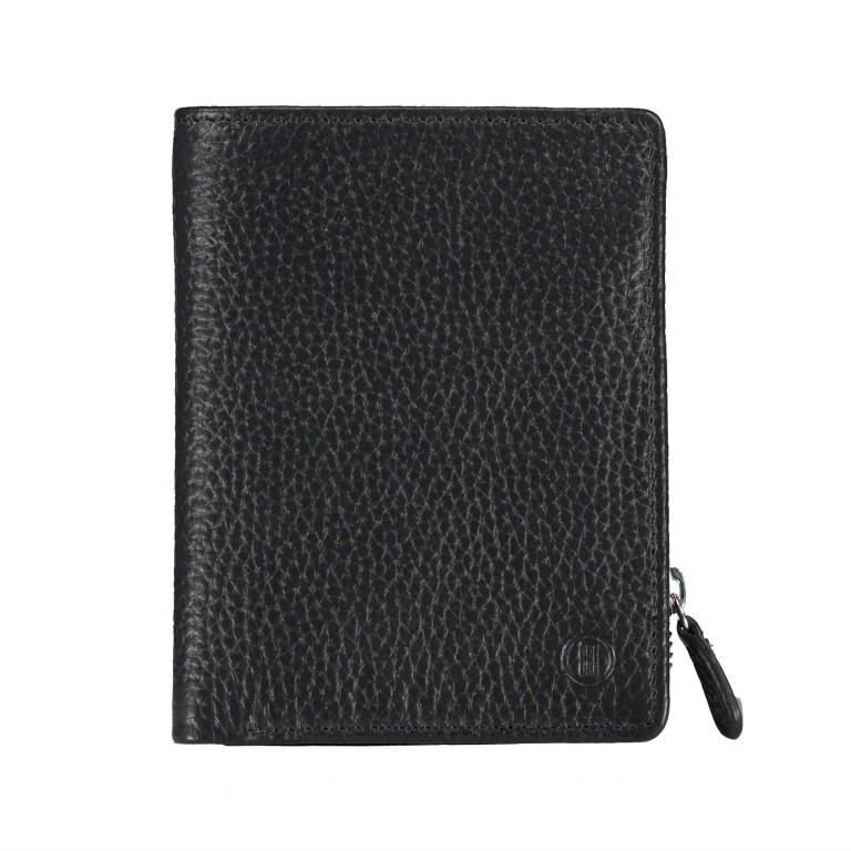 Geldbörse Amra Bradley mit RFID-Funktion Schwarz, Farbe: schwarz, Marke: Hausfelder, EAN: 4251672748677, Abmessungen in cm: 9.5x12.5x1.5, Bild 1 von 5