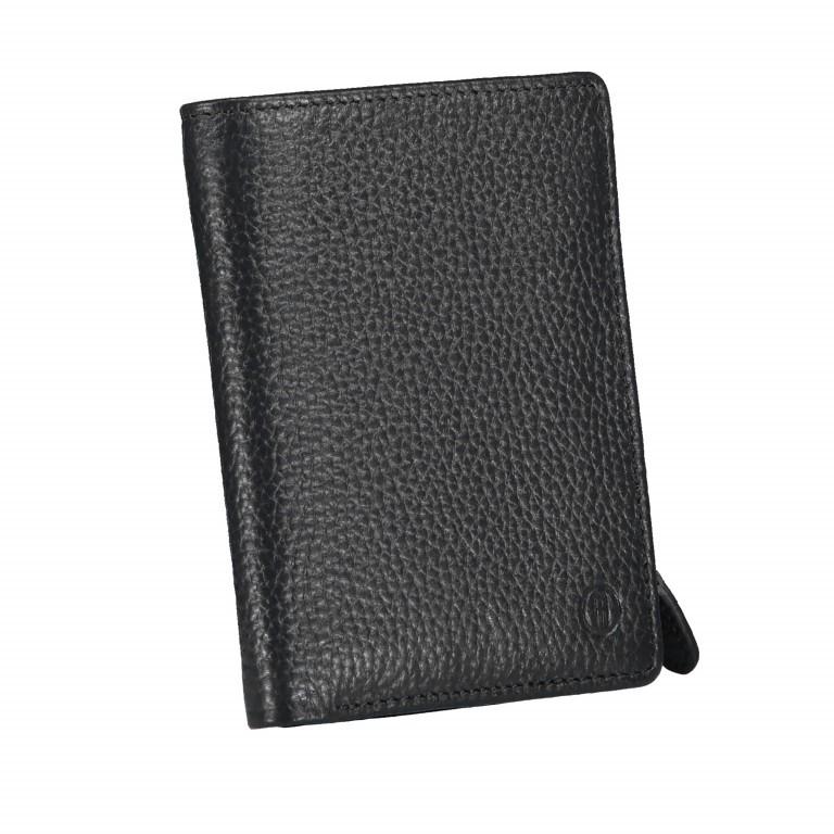 Geldbörse Amra Bradley mit RFID-Funktion Schwarz, Farbe: schwarz, Marke: Hausfelder, EAN: 4251672748677, Abmessungen in cm: 9.5x12.5x1.5, Bild 2 von 5