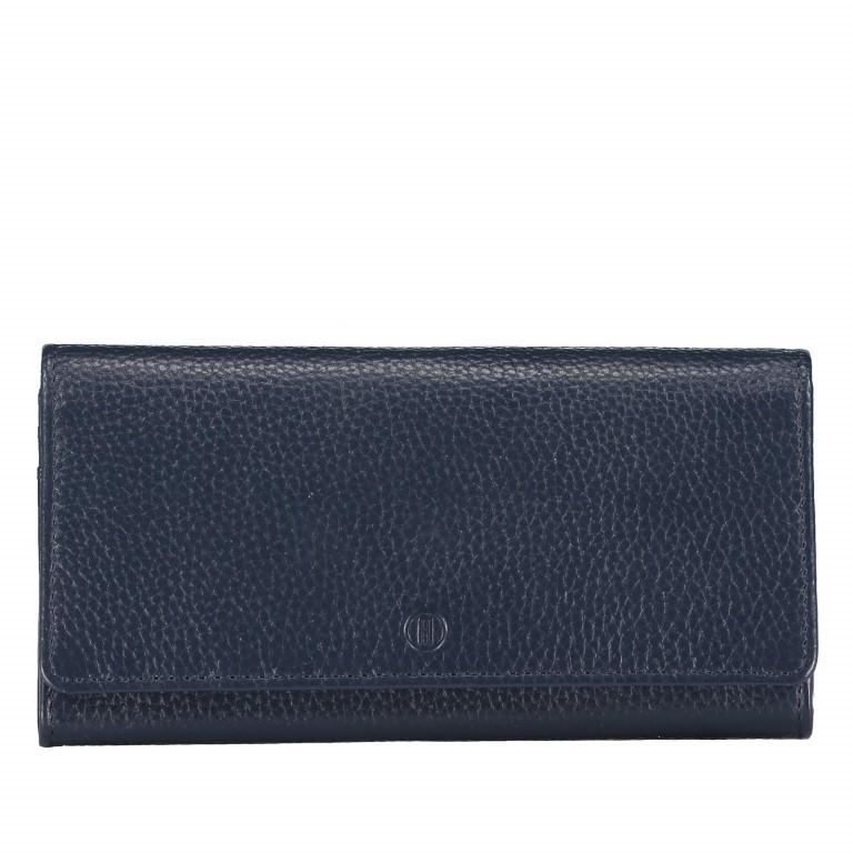 Geldbörse Amra Bradley mit RFID-Funktion Dunkelblau, Farbe: blau/petrol, Marke: Hausfelder, EAN: 4251672748721, Abmessungen in cm: 19.0x9.5x2.5, Bild 1 von 5