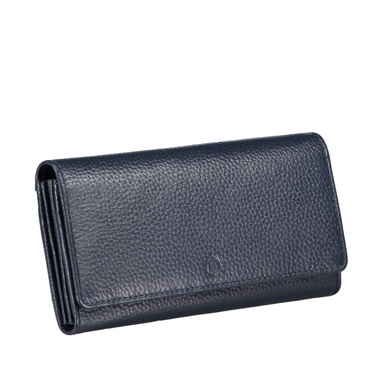 Geldbörse Amra Bradley mit RFID-Funktion Dunkelblau, Farbe: blau/petrol, Marke: Hausfelder, EAN: 4251672748721, Abmessungen in cm: 19.0x9.5x2.5, Bild 2 von 5