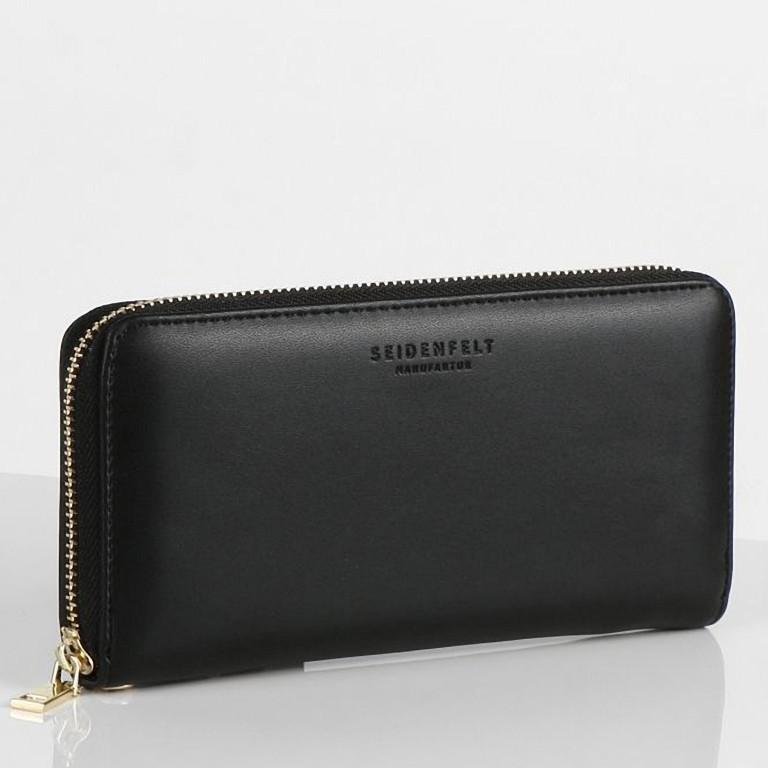 Geldbörse Smilla Black Gold, Farbe: schwarz, Marke: Seidenfelt, EAN: 4251634286551, Abmessungen in cm: 19.0x9.5x2.5, Bild 2 von 5