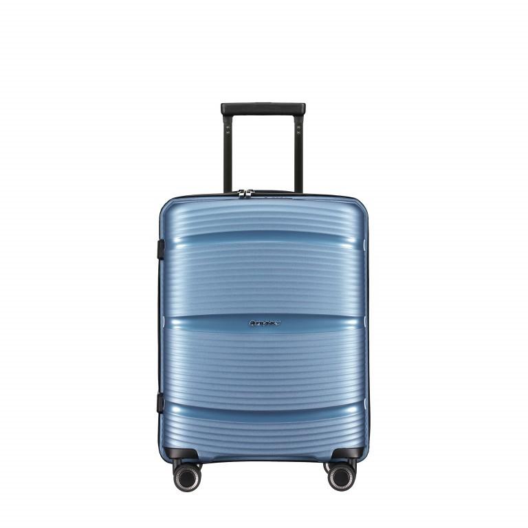 Koffer PP11 55 cm, Farbe: grau, blau/petrol, rot/weinrot, rosa/pink, Marke: Franky, Abmessungen in cm: 39.5x55.0x20.0, Bild 1 von 9