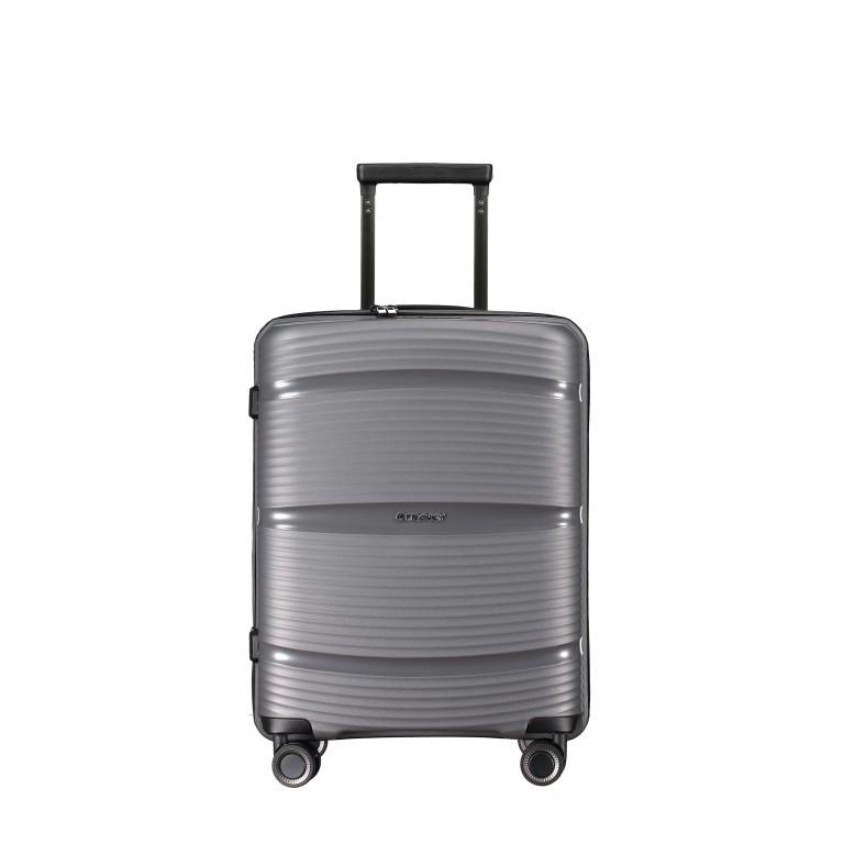 Koffer PP11 55 cm Grey Metallic, Farbe: grau, Marke: Franky, EAN: 4251672738814, Abmessungen in cm: 39.5x55.0x20.0, Bild 1 von 10