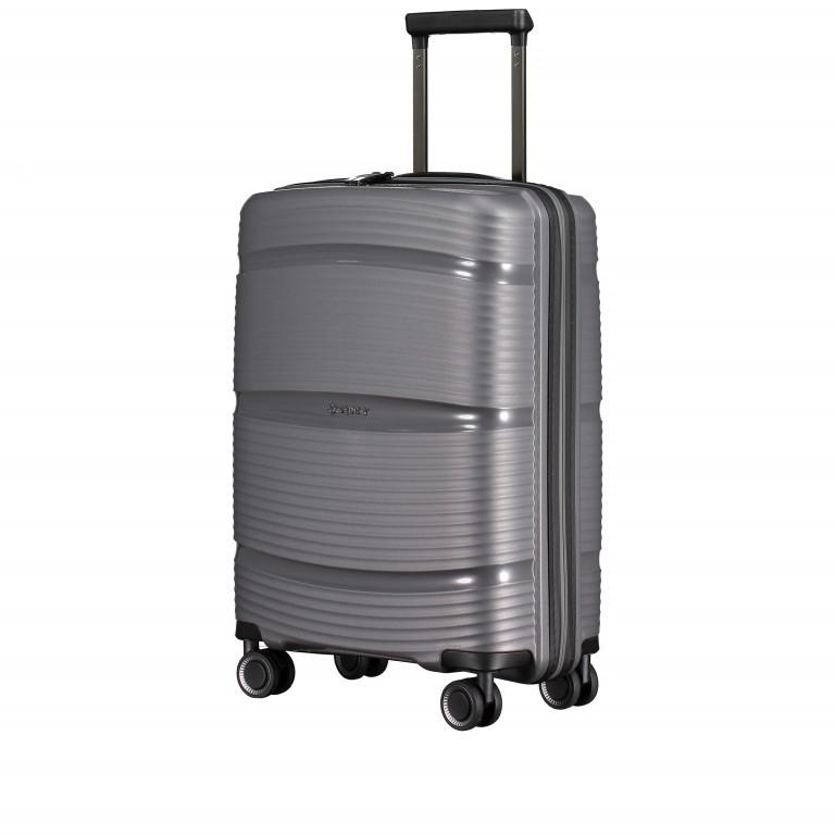 Koffer PP11 55 cm Grey Metallic, Farbe: grau, Marke: Franky, EAN: 4251672738814, Abmessungen in cm: 39.5x55.0x20.0, Bild 2 von 10