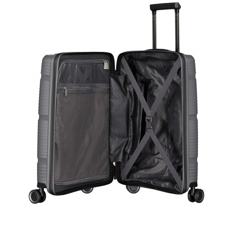 Koffer PP11 55 cm Grey Metallic, Farbe: grau, Marke: Franky, EAN: 4251672738814, Abmessungen in cm: 39.5x55.0x20.0, Bild 8 von 10