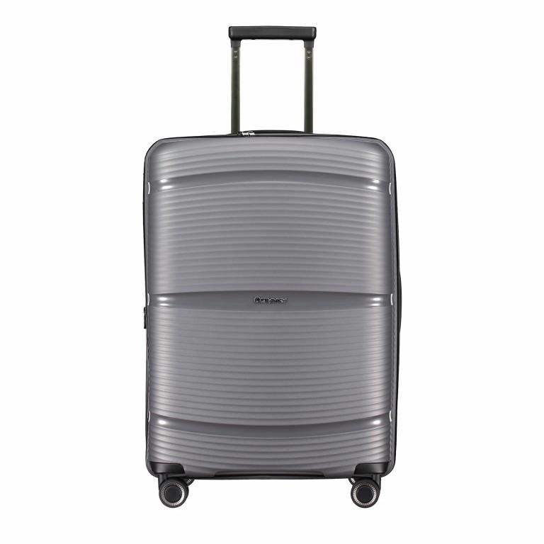 Koffer PP11 66 cm Grey Metallic, Farbe: grau, Marke: Franky, EAN: 4251672738821, Abmessungen in cm: 45.5x66.0x26.0, Bild 1 von 10