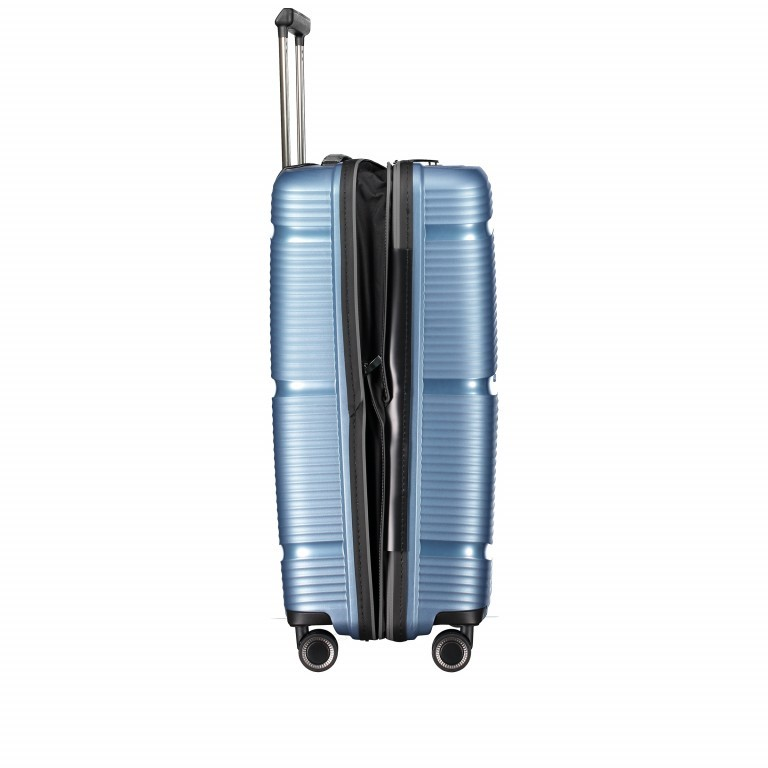 Koffer PP11 66 cm Grey Metallic, Farbe: grau, Marke: Franky, EAN: 4251672738821, Abmessungen in cm: 45.5x66.0x26.0, Bild 5 von 10