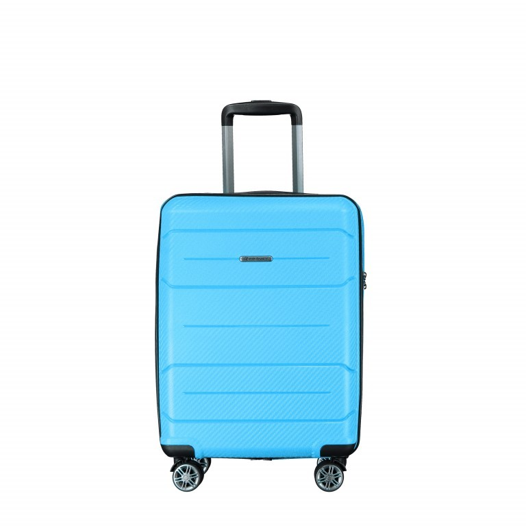 Koffer PP19 55 cm Sky Blue, Farbe: blau/petrol, Marke: Franky, EAN: 4251672746369, Abmessungen in cm: 37.0x55.0x20.0, Bild 1 von 9