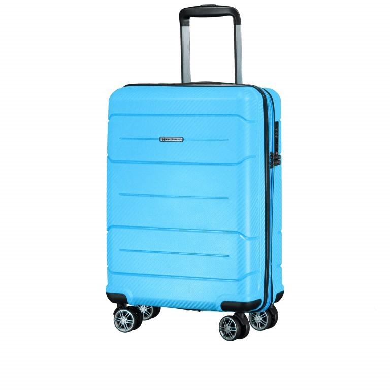 Koffer PP19 55 cm Sky Blue, Farbe: blau/petrol, Marke: Franky, EAN: 4251672746369, Abmessungen in cm: 37.0x55.0x20.0, Bild 2 von 9