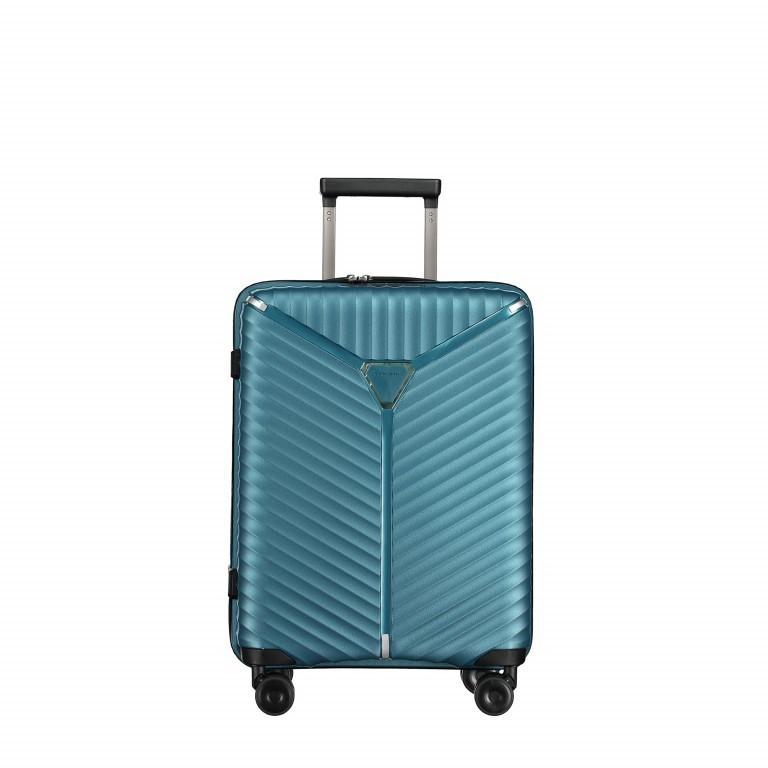 Koffer PP13 55 cm Green Metallic, Farbe: blau/petrol, Marke: Franky, EAN: 4251672746147, Abmessungen in cm: 39.0x55.0x21.0, Bild 1 von 10