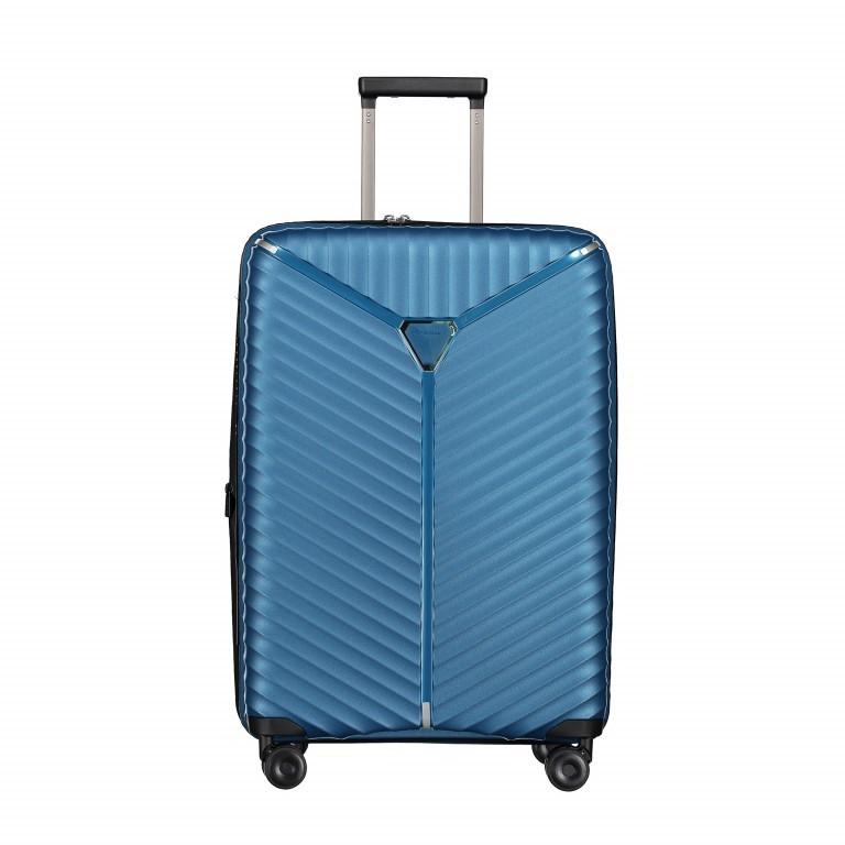 Koffer PP13 66 cm Blue Metallic, Farbe: blau/petrol, Marke: Franky, EAN: 4251672746185, Abmessungen in cm: 45.5x66.0x26.0, Bild 1 von 11