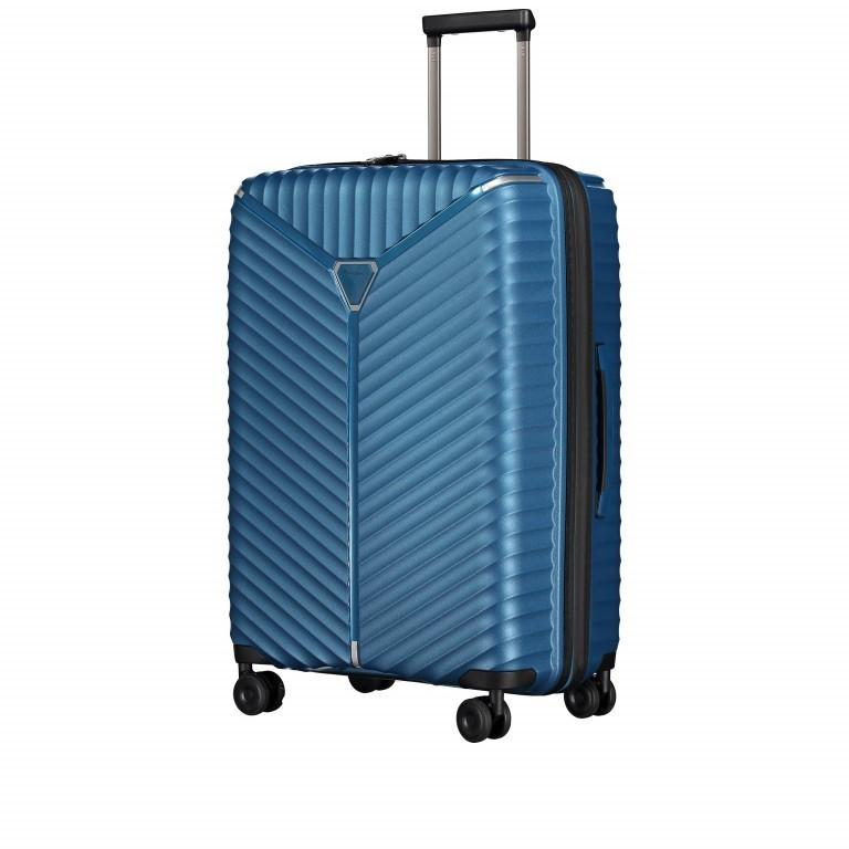 Koffer PP13 66 cm Blue Metallic, Farbe: blau/petrol, Marke: Franky, EAN: 4251672746185, Abmessungen in cm: 45.5x66.0x26.0, Bild 2 von 11