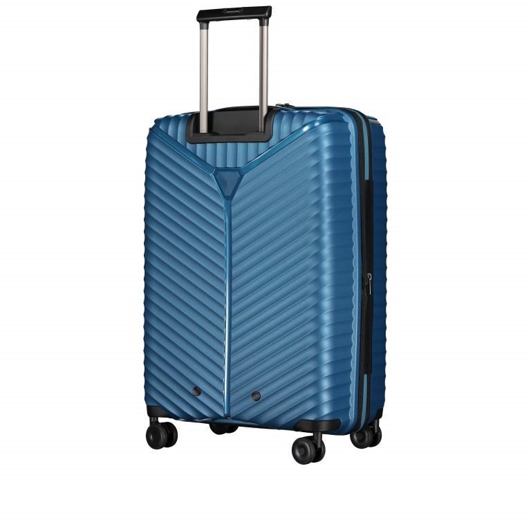 Koffer PP13 66 cm Blue Metallic, Farbe: blau/petrol, Marke: Franky, EAN: 4251672746185, Abmessungen in cm: 45.5x66.0x26.0, Bild 7 von 11