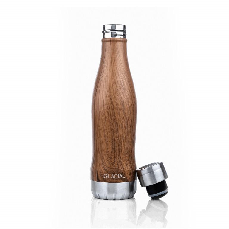 Trinkflasche Volumen 400 ml Teak Wood, Farbe: braun, Marke: Glacial Bottle, EAN: 7340144805608, Bild 1 von 2