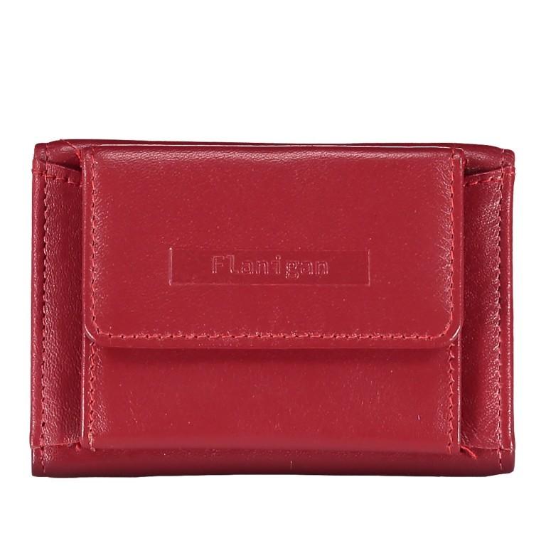 Geldbörse Alba 005 Rot, Farbe: rot/weinrot, Marke: Flanigan, EAN: 4035486094034, Abmessungen in cm: 10.0x6.0x1.0, Bild 1 von 7