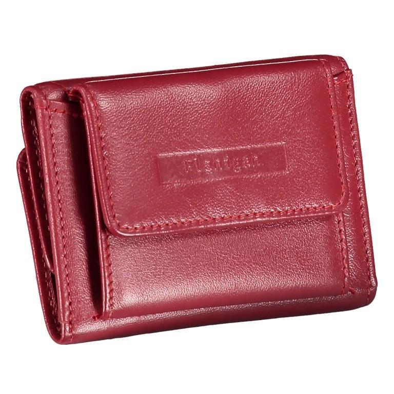 Geldbörse Alba 005 Rot, Farbe: rot/weinrot, Marke: Flanigan, EAN: 4035486094034, Abmessungen in cm: 10.0x6.0x1.0, Bild 2 von 7