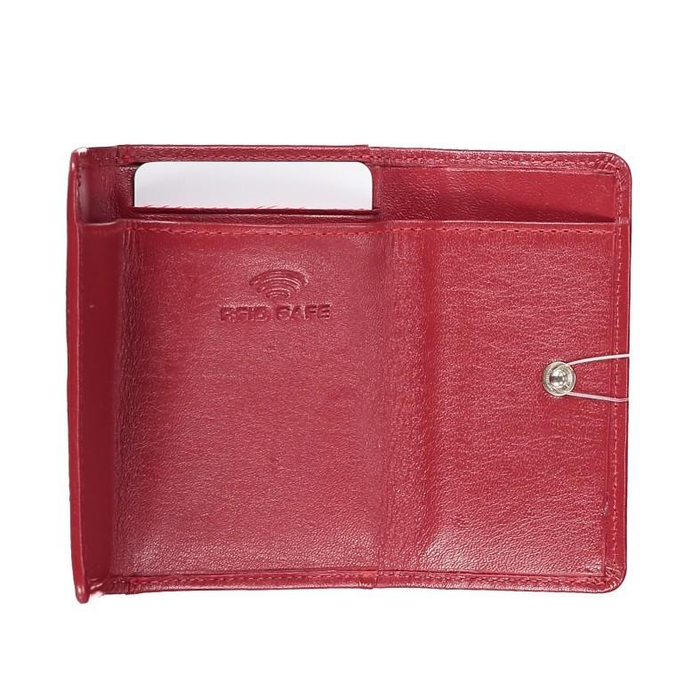 Geldbörse Alba 005 Rot, Farbe: rot/weinrot, Marke: Flanigan, EAN: 4035486094034, Abmessungen in cm: 10.0x6.0x1.0, Bild 7 von 7