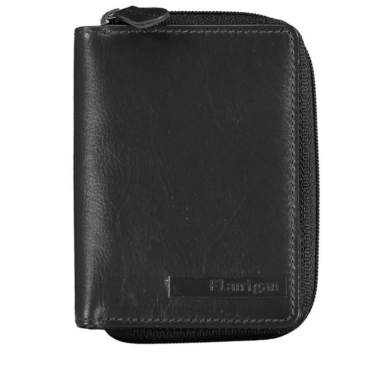 Geldbörse Alba 022 Schwarz, Farbe: schwarz, Marke: Flanigan, EAN: 4035486094249, Abmessungen in cm: 7.5x10.0x2.5, Bild 1 von 5