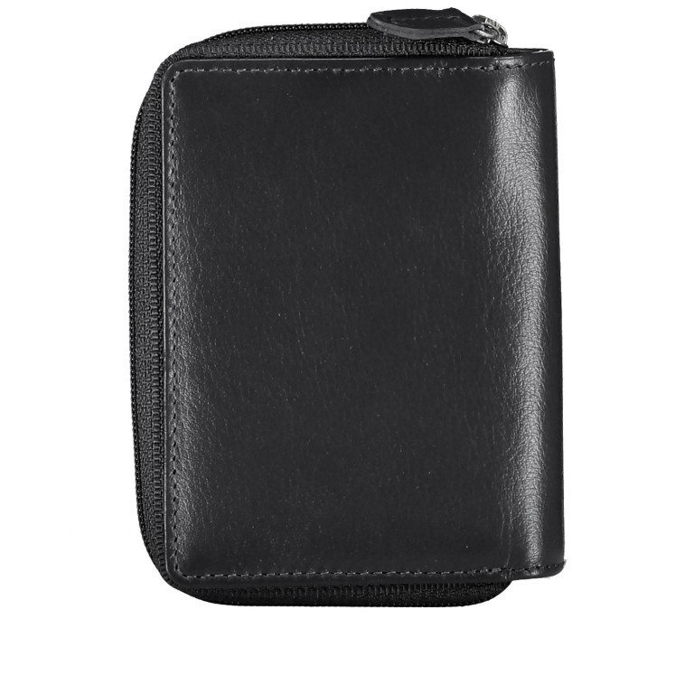 Geldbörse Alba 022 Schwarz, Farbe: schwarz, Marke: Flanigan, EAN: 4035486094249, Abmessungen in cm: 7.5x10.0x2.5, Bild 3 von 5