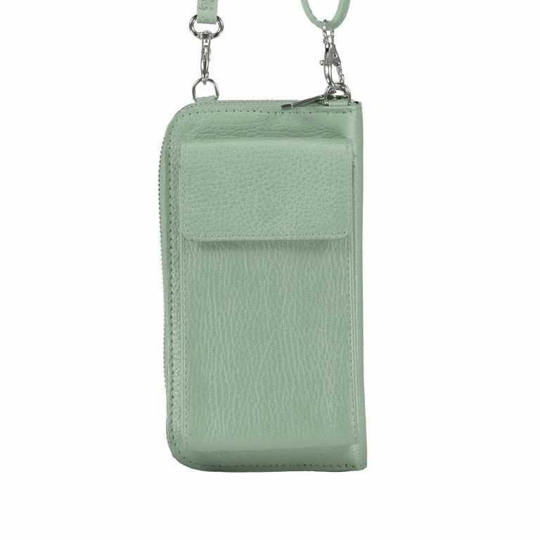 Handytasche Dollaro mit Schulterriemen Grün, Farbe: grün/oliv, Marke: Hausfelder, EAN: 4065646002128, Abmessungen in cm: 11.0x20.0x4.5, Bild 1 von 6