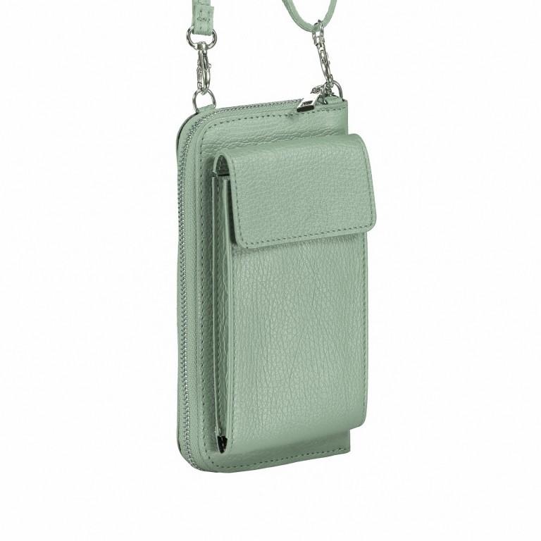 Handytasche Dollaro mit Schulterriemen Grün, Farbe: grün/oliv, Marke: Hausfelder, EAN: 4065646002128, Abmessungen in cm: 11.0x20.0x4.5, Bild 2 von 6