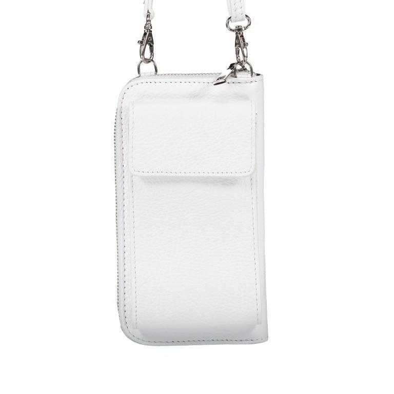 Handytasche Dollaro mit Schulterriemen Weiß, Farbe: weiß, Marke: Hausfelder, EAN: 4065646002142, Abmessungen in cm: 11.0x20.0x4.5, Bild 1 von 6