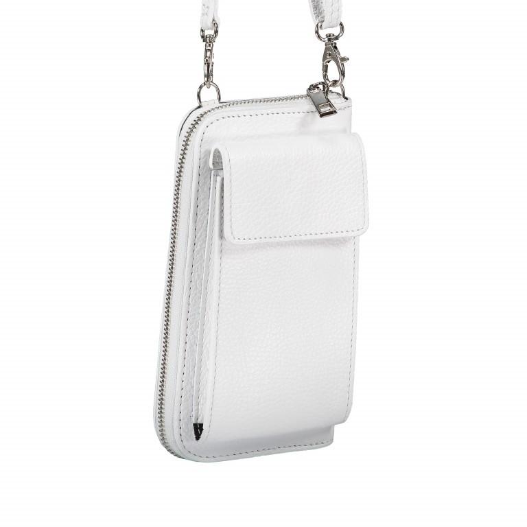Handytasche Dollaro mit Schulterriemen Weiß, Farbe: weiß, Marke: Hausfelder, EAN: 4065646002142, Abmessungen in cm: 11.0x20.0x4.5, Bild 2 von 6