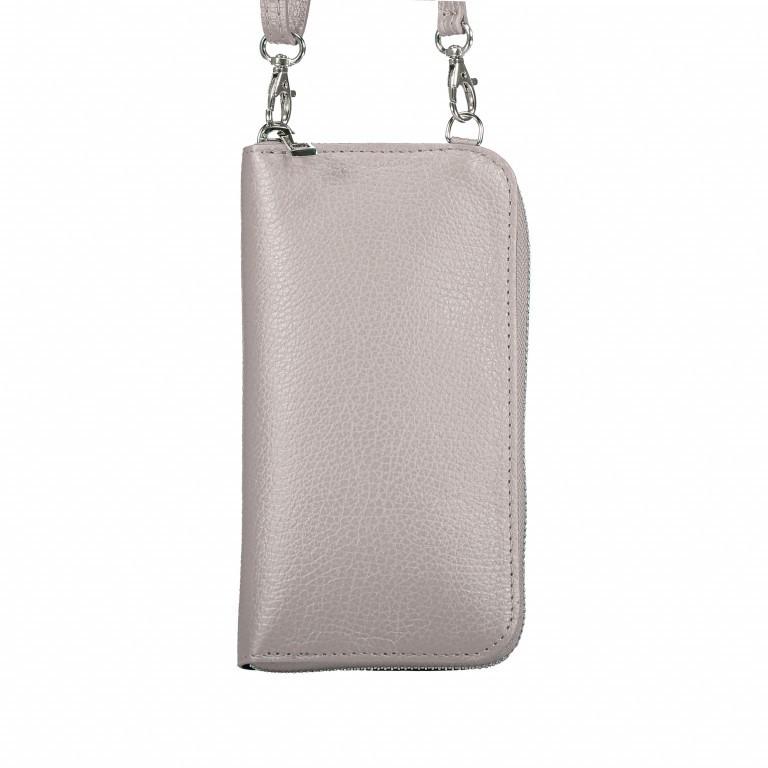 Handytasche Dollaro mit Schulterriemen Weiß, Farbe: weiß, Marke: Hausfelder, EAN: 4065646002142, Abmessungen in cm: 11.0x20.0x4.5, Bild 3 von 6