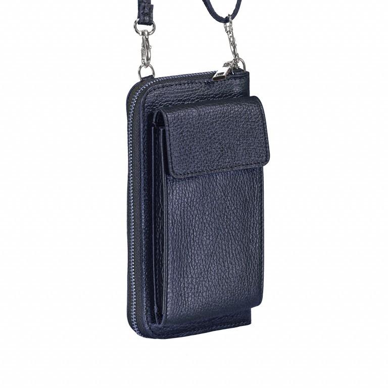 Handytasche Dollaro mit Schulterriemen Dunkelblau, Farbe: blau/petrol, Marke: Hausfelder, EAN: 4065646002029, Abmessungen in cm: 11.0x20.0x4.5, Bild 2 von 6