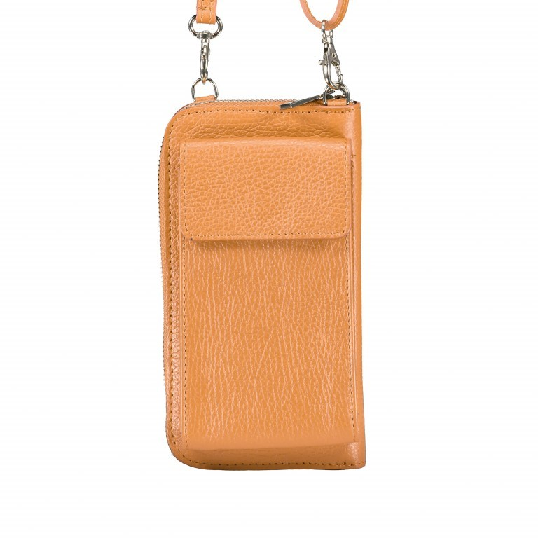 Handytasche Dollaro mit Schulterriemen Cognac, Farbe: cognac, Marke: Hausfelder, EAN: 4065646002081, Abmessungen in cm: 11.0x20.0x4.5, Bild 1 von 6