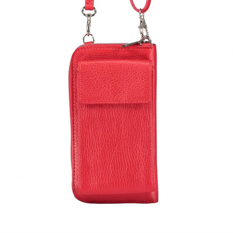 Handytasche Dollaro mit Schulterriemen Rot, Farbe: rot/weinrot, Marke: Hausfelder, EAN: 4065646002098, Abmessungen in cm: 11.0x20.0x4.5, Bild 1 von 6