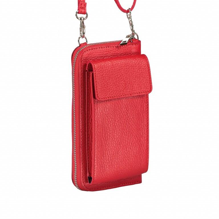 Handytasche Dollaro mit Schulterriemen Rot, Farbe: rot/weinrot, Marke: Hausfelder, EAN: 4065646002098, Abmessungen in cm: 11.0x20.0x4.5, Bild 2 von 6