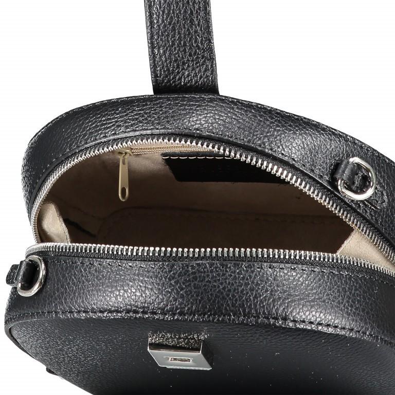 Umhängetasche Schwarz, Farbe: schwarz, Marke: Hausfelder, EAN: 4065646002234, Abmessungen in cm: 15.5x15.0x9.0, Bild 7 von 8