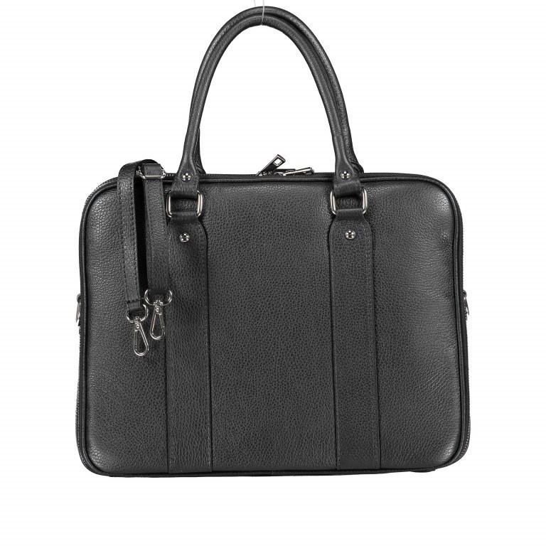Aktentasche für Damen Schwarz, Farbe: schwarz, Marke: Hausfelder, EAN: 4065646001626, Abmessungen in cm: 36.0x28.0x13.0, Bild 1 von 11