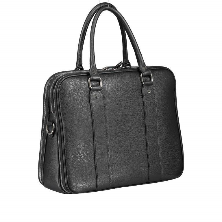 Aktentasche für Damen Schwarz, Farbe: schwarz, Marke: Hausfelder, EAN: 4065646001626, Abmessungen in cm: 36.0x28.0x13.0, Bild 2 von 11